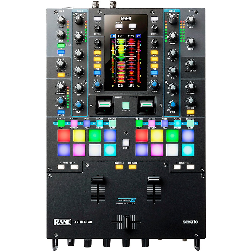 Rane SEVENTY-TWO Battle-Ready 2-channel DJ Mixer with Touchscreen and Serato DJ 2